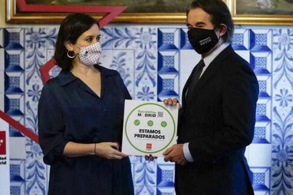 Díaz Ayuso presenta el sello Garantía Madrid